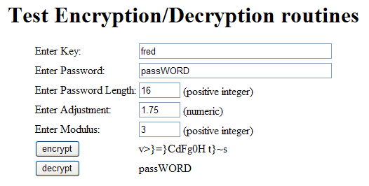 A reversible password encryption routine for PHP